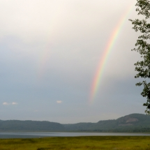 rainbow at hunt camp
